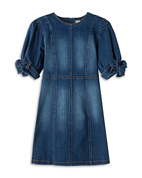 Habitual Kids - Girls' Mae Belted Sleeve Denim Dress - Big Kid