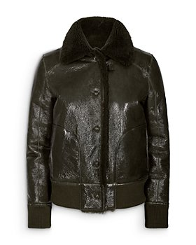 REMAIN - Perla Cropped Shearling Lined Jacket