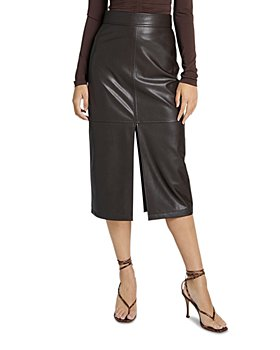 A.L.C. - Moss Faux Leather Pencil Skirt