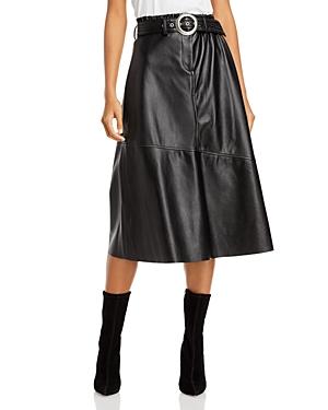 Blanknyc Belted Faux Leather Midi Skirt-Women