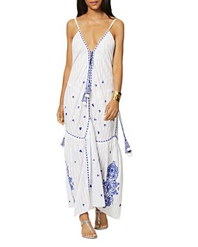 Ramy Brook - Taryn Cotton Embroidered Swim Cover Up Maxi Dress