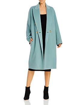 Vince - Double Breasted Oversized Wool Blend Coat