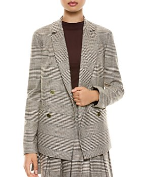Alice and Olivia - Bergen Double Breasted Plaid Blazer