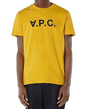 A.P.C. - Flocked Velvet Logo Tee