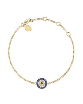 Meira T 14 Kt Yellow Gold Diamond Evil Eye Bracelet
