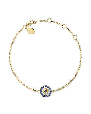 Meira T - 14 Kt. Yellow Gold/Diamond Evil Eye Bracelet