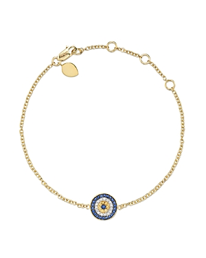 Meira T 14 Kt. Yellow Gold/Diamond Evil Eye Bracelet