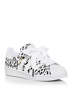 Adidas - Women's Superstar Leopard Print Low Top Sneakers