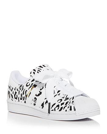 Adidas Women's Superstar Leopard Print Low Top Sneakers ...