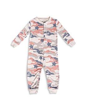 PJ Salvage - Girls' Star Camo Print Pajama Coverall - Little Kid