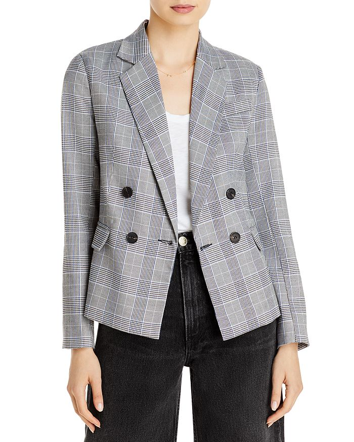 AQUA - Glenn Plaid Double Breasted Button Front Blazer - 100% Exclusive