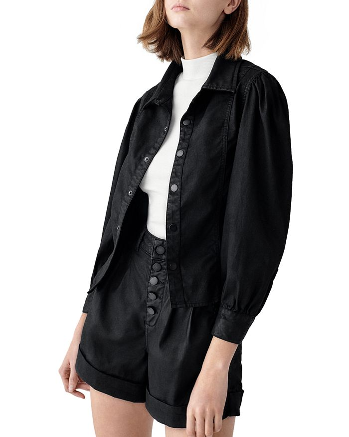 DL1961 - Clarita Coated Button Up Jacket