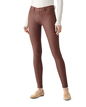 DL1961 - Emma Coated Skinny Jeans in Pecan