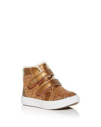 UGG® - Girls' Rennon II Glitter Leopard Print Sneakers - Walker, Toddler