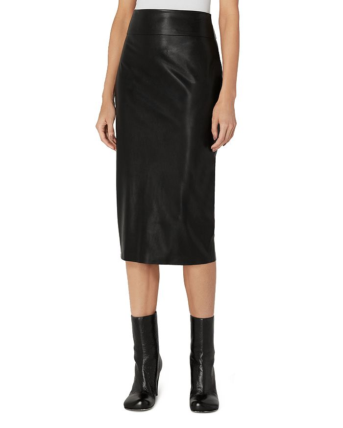 Enza Costa - Faux Leather Pencil Skirt
