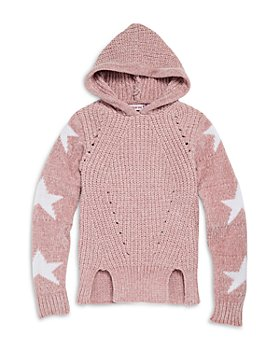 Vintage Havana - Girls' Chenille Hooded Star Sweater - Big Kid