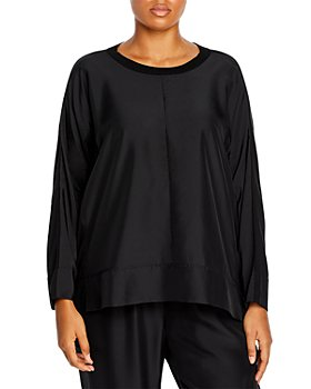 Eileen Fisher Plus - Plus Size Long Sleeve Crewneck Top