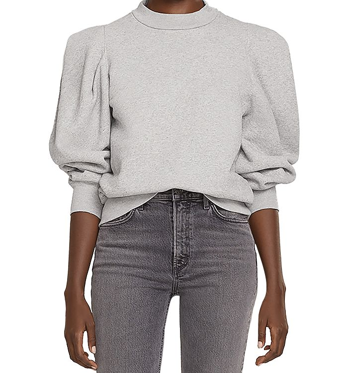 Agolde COTTON PUFF SLEEVE SWEATSHIRT