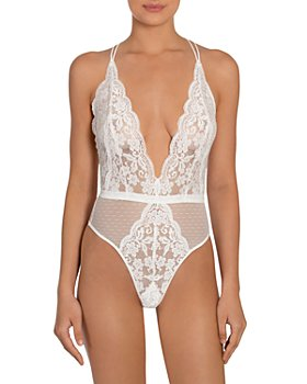 In Bloom by Jonquil - Stretch Mesh Lace Teddy
