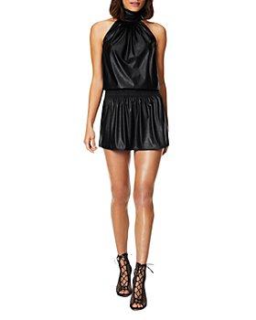 Ramy Brook - Pam Faux Leather A-Line Dress