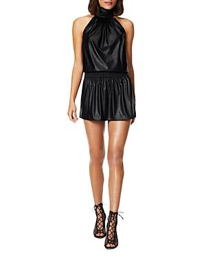 Ramy Brook Pam Faux Leather A-Line Dress