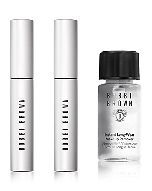 What It Is: Two of Bobbi Brown\\\'s top-selling Smokey Eye Mascaras (one for home, one to go wherever the season takes you), plus a mini Instant Long-Wear Makeup Remover. It\\\'s the secret to ultra-black lash volume that stays all day and washes off effortlessly at night. All in a ready-to-gift set wrapped in watercolors by artist Cecilia Carlstedt, inspired by the energy of dance and the holidays in New York City. Set Includes: - Full Size Smokey Eye Mascara 0.2 oz. - Full Size Smokey Eye Mascara 0.