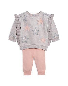 Miniclasix - Girls' Ruffled Star Sweater & Sweater Leggings Set - Baby