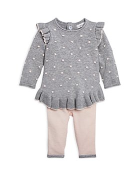Miniclasix - Girls' Dot Sweater & Sweater Leggings Set - Baby
