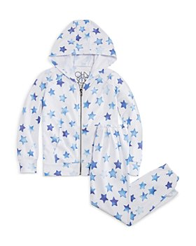 CHASER - Girls' Star Full Zip Hoodie & Lounge Pants Set - Little Kid, Big Kid