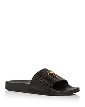 Giuseppe Zanotti - Men's Tetra Embossed Slide Sandals