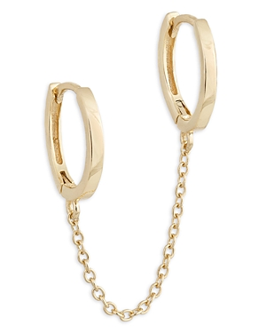 Adina's Jewels Chain Linked Double Huggie Hoop Earrings