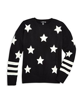 AQUA - Girls' Star Print Cashmere Sweater, Big Kid - 100% Exclusive