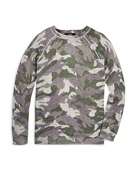AQUA - Girls' Camo Sweater - Big Kid