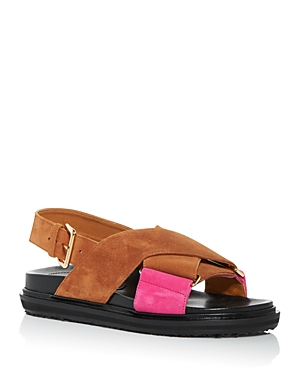 Marni Chunky heels WOMEN'S FUSSBETT COLOR BLOCK SLINGBACK SANDALS