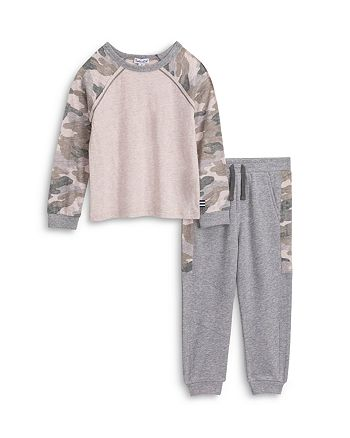 Splendid - Boys' Camouflage Long Sleeve Tee & Sweatpants Set - Little Kid