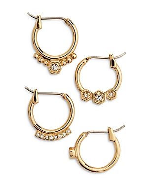 Full Bloom Cubic Zirconia Mismatch Hoop Earrings