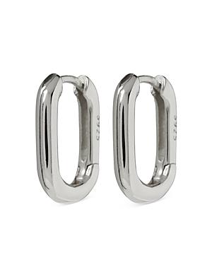 Chain Link Oval Hoop Earrings