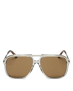 Gucci - Unisex Aviator Sunglasses, 57mm