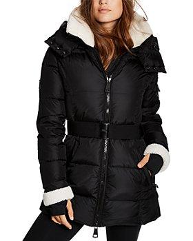 SAM. - Courtney Shearling Trim Hooded Puffer Coat