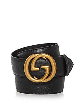 Gucci - Men's Double G Buckle Leather Belt