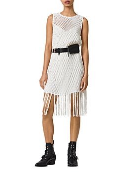ALLSAINTS - Jesa Fringe Hem Net Dress