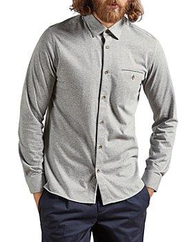 Ted Baker - Cotton Blend Textured Shirt