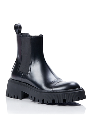 Balenciaga Leathers WOMEN'S TRACTOR BOOTS