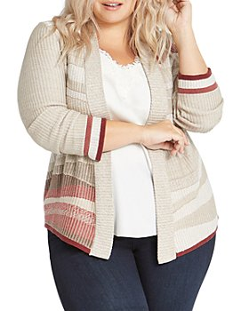 NIC and ZOE Plus - Plus Fall Air Open Front Cardigan