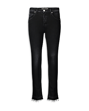 Babe Frayed Straight Jeans in Black Magic
