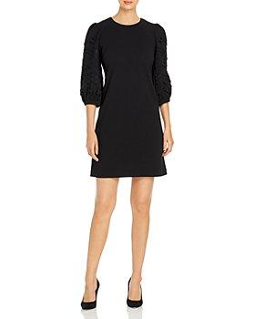 KARL LAGERFELD PARIS - Embroidered Sleeve Dress