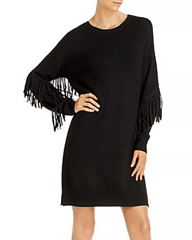 AQUA - Fringe Sleeve Sweater Dress - 100% Exclusive