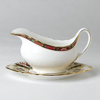 "Royal Crown Derby - ""Chelsea Garden"" Sauce Boat"