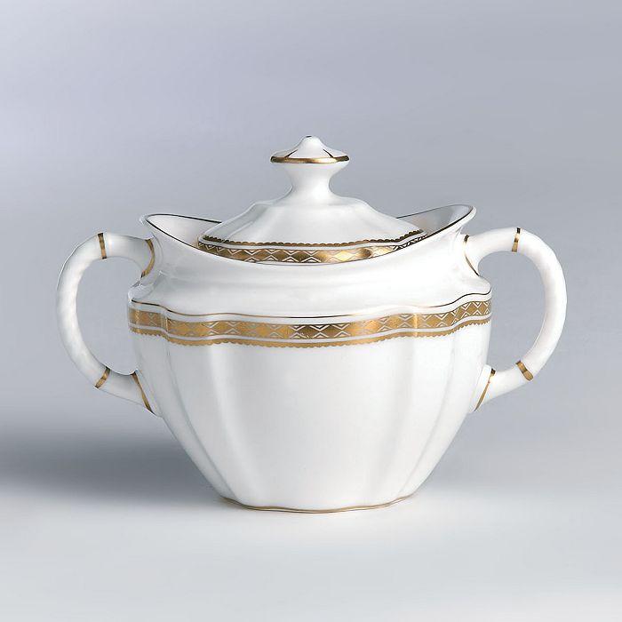 "Royal Crown Derby - ""Carlton Gold"" Covered Sugar Bowl"