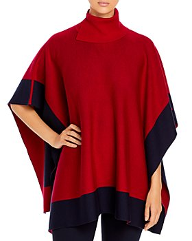 BOSS - Lisandra Color Blocked Poncho Sweater